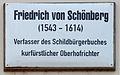 Gedenktafel Schlossstr 14-15 (Wittenberg) Friedrich von Schönberg.jpg