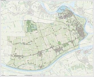 Aalburg - Topographic map of Aalburg, June 2015