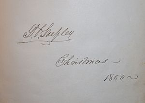George Foster Shepley (Maine and Louisiana) - Autograph of General George Foster Shepley from an autograph album he gave to his daughter Anne at Christmas, 1860 (Private Collection of H. Blair Howell)