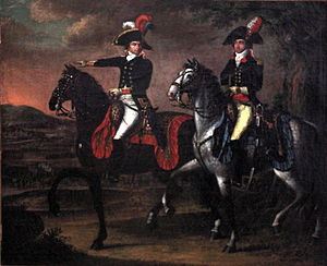 Johann Friedrich Dryander - Portrait of General Jourdan and his adjutant