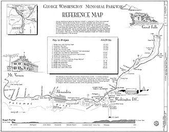 George Washington Memorial Parkway - Image: George Washington Memorial Parkway Reference Map