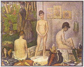 Poseur - Les Poseuses by Georges Seurat
