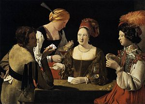 Cheating - Cheater with the Ace of Diamonds, by Georges de La Tour