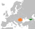 Georgia Romania Locator.png
