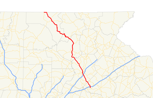 Georgia State Route 60 - Image: Georgia state route 60 map