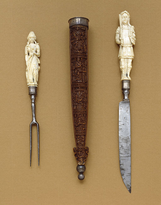 German - Knife-and-Fork Set with Mars and Diana - Walters 71374, 71374A, 71374B, 71374C (2)