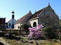 Gezicht op het vesting kerkje van Bourtange.JPG