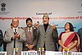 Ghulam Nabi Azad launching the Indigenous Affordable Technologies for Detection of Diabetes, in New Delhi on January 13, 2014. The DG, ICMR and Secretary, Department of Health Research, Dr. V.M. Katoch is also seen.jpg