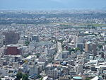 Closeup of Gifu skyline