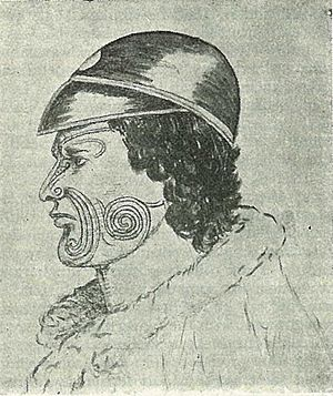 George Grey - Drawing of Hōne Heke, who opposed Grey's governorship