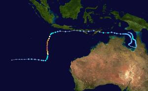 Cyclone Gillian - Image: Gillian 2014 track