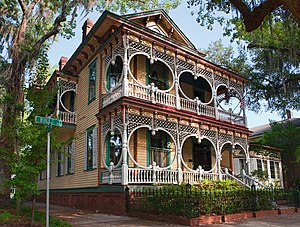 Savannah Victorian Historic District - Image: Gingerbread House in Savannah