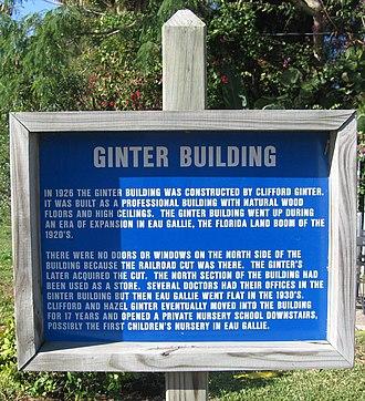 Ginter Building - Image: Ginter Building Historical Marker 1