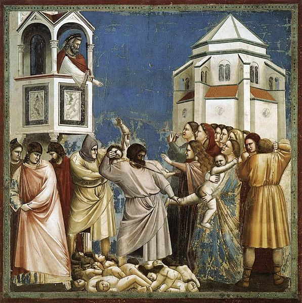 http://upload.wikimedia.org/wikipedia/commons/thumb/7/74/Giotto_di_Bondone_-_No._21_Scenes_from_the_Life_of_Christ_-_5._Massacre_of_the_Innocents_-_WGA09199.jpg/597px-Giotto_di_Bondone_-_No._21_Scenes_from_the_Life_of_Christ_-_5._Massacre_of_the_Innocents_-_WGA09199.jpg