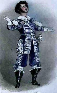 Rubini as Arturo in I Puritani, Paris 1835 (Source: Wikimedia)