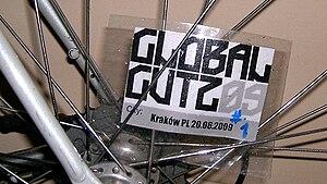 Spoke card - Spoke card from Global Gutz alleycat from Kraków, Poland, 2009