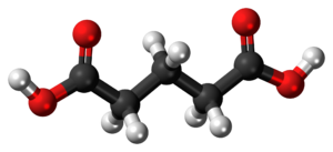Glutaric acid - Image: Glutaric acid 3D ball