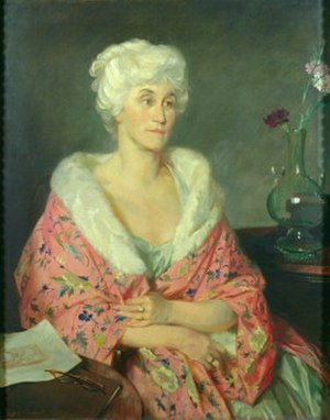 Robert Witt (art historian) - Portrait of Lady Witt (Mary Helene Marten), by Glyn Philpot