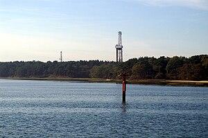 Wytch Farm - Oil wells on the Goathorn Peninsula, Poole Harbour