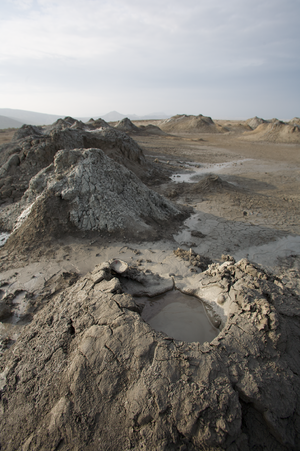 Mud volcano - A series of mud volcanoes in Gobustan, Azerbaijan