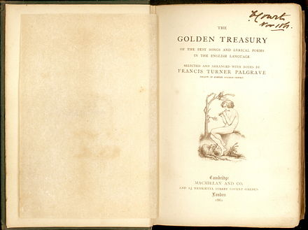 Notes to palgrave's golden treasury of songs and lyrics: macmillan.