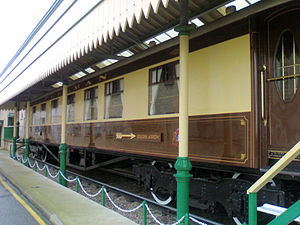 Golden Arrow (train) - A restored Golden Arrow carriage at Pecorama in Devon