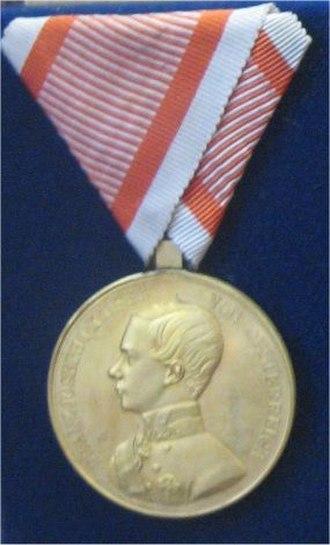 Medal for Bravery (Austria-Hungary) - Image: Goldene Tapferkeitsmedaille 1848 59
