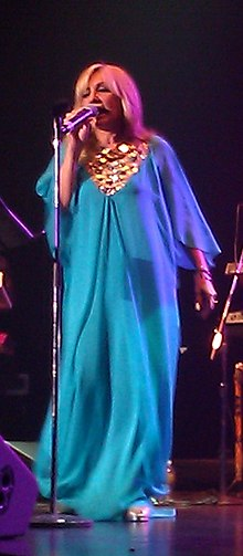 Googoosh during a concert in Canada