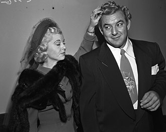 Gorgeous George - Gorgeous George and wife Betty, 1950