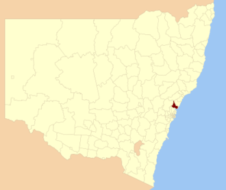 City of Gosford - Location of the former City of Gosford in New South Wales