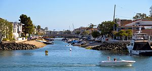 Balboa Island, Newport Beach - Grand Canal Waterway, Balboa Island, Newport Beach Ca.