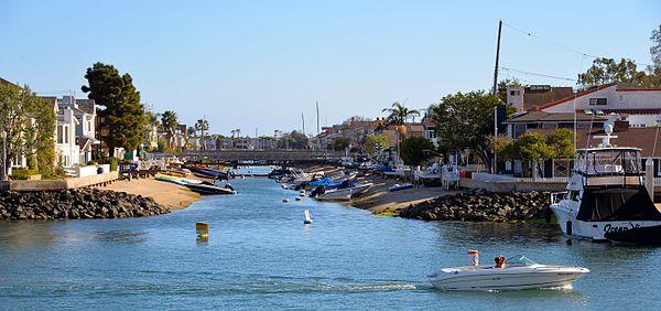 Grand Canal waterway Balboa Islands Newport Beach, California