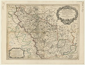 Duchy of Berg - Map of the Duchy of Berg by French cartographer Nicolas Sanson in 1696.