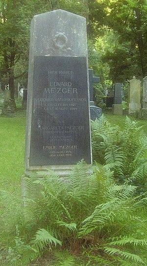 Eduard Mezger - Grave of Eduard Mezger
