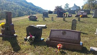 Sara Carter - Grave of Sara Carter Bayes and children at Mount Vernon United Methodist Church at Hiltons, Virginia