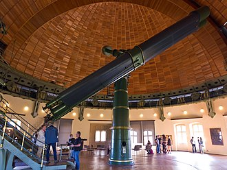 "Leibniz Institute for Astrophysics Potsdam - The ""Große Refraktor"" of 1899, a double telescope with a 80cm (31.5"") and 50 cm (19.5"") lenses"