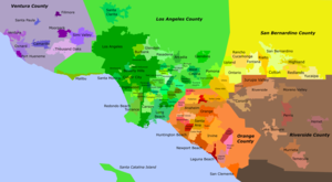 Map of Greater Los Angeles