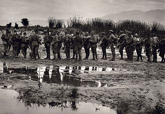 Battle of Kilkis–Lachanas - Greek soldiers near Strymon river