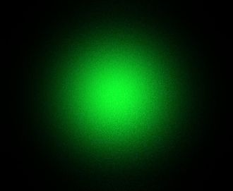 Speckle pattern - A green laser pointer. Reduction of the speckle was necessary to photograph the laser's Gaussian profile, accomplished by removing all lenses and projecting it onto an opaque liquid (milk) being the only surface flat and smooth enough.