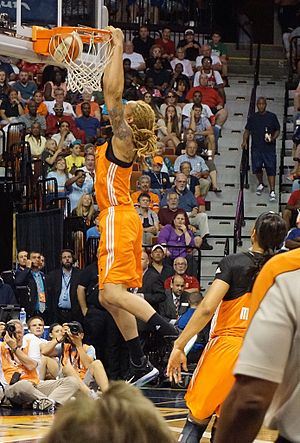 Brittney Griner - Griner dunking at the 2015 WNBA All-Star game held at the Mohegan Sun in Uncasville CT