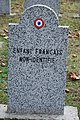 GuentherZ 2013-01-12 0270 Wien11 Zentralfriedhof Gruppe88 Soldatenfriedhof franzoesisch WK2 Enfant Francais non identifie.JPG
