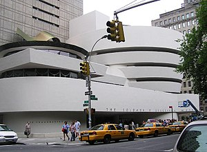 Museum architecture - The Solomon R. Guggenheim Museum in New York City, designed by Frank Lloyd Wright and opened in 1959