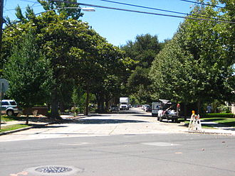 Palo Alto, California - Guinda Street in Palo Alto