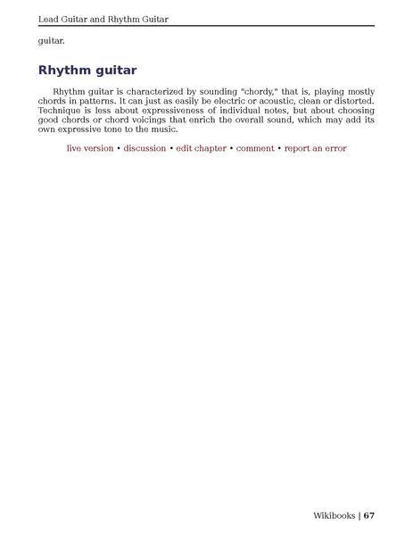 Guitar pdf rhythm