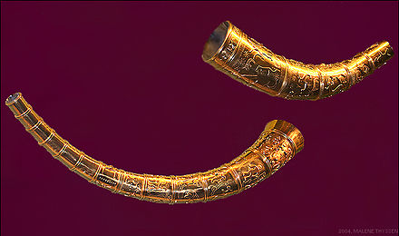 The 5th-century Golden Horns of Gallehus Guldhornene.jpg