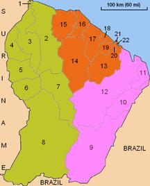 法屬圭亞那-行政区划-Guyane administrative