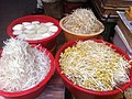 HK Central 結志街 Gage Street market 豆芽 Bean products 豆腐 March-2012.jpg