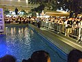 HK Central Statue Square Memorial 悼念菲律賓遇害香港市民 site water pool side visitors night Candles Aug-2010.JPG
