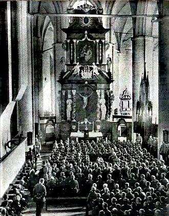 Lübeck Cathedral - Inside, November 23, 1914