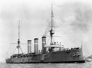 HMS Cumberland (1902) - Image: HMS Cumberland